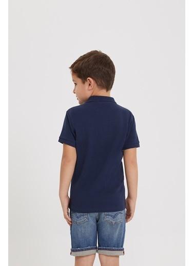 Lee Cooper Erkek Çocuk Beyaz T-Shirt İndigo